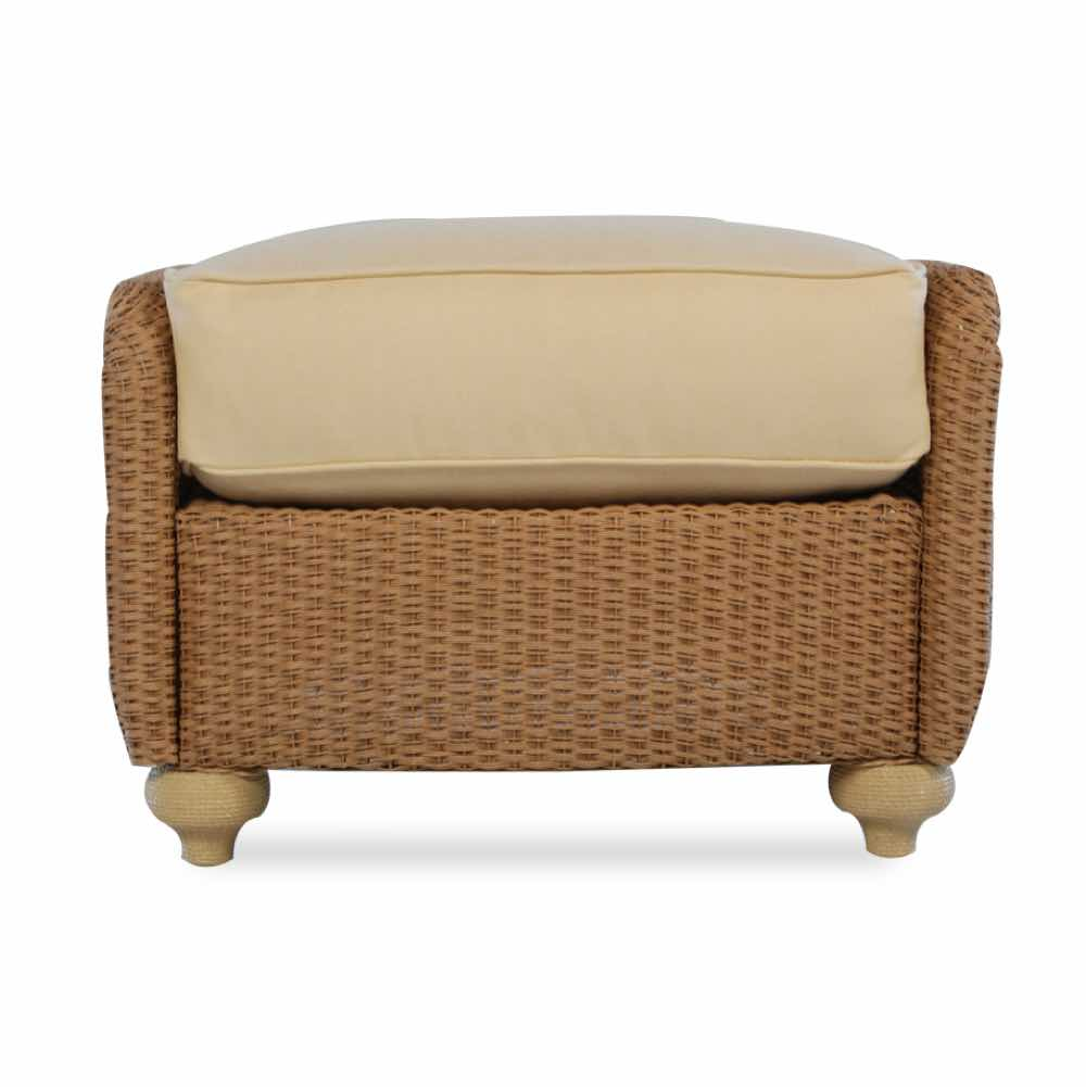 Lloyd Flanders Oxford Wicker Ottoman