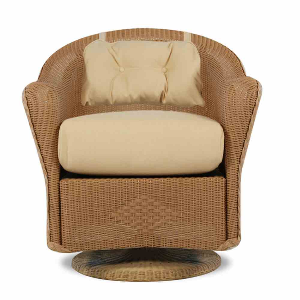 Lloyd Flanders Reflections Outdoor Wicker Swivel Rocker Dining Arm Chair