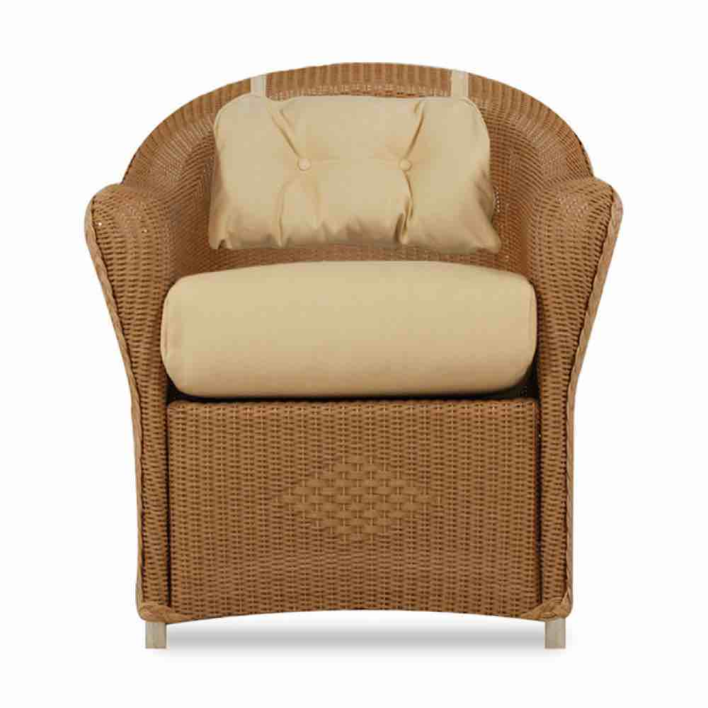 Lloyd Flanders Reflections Outdoor Wicker Dining Chair With Back Pad