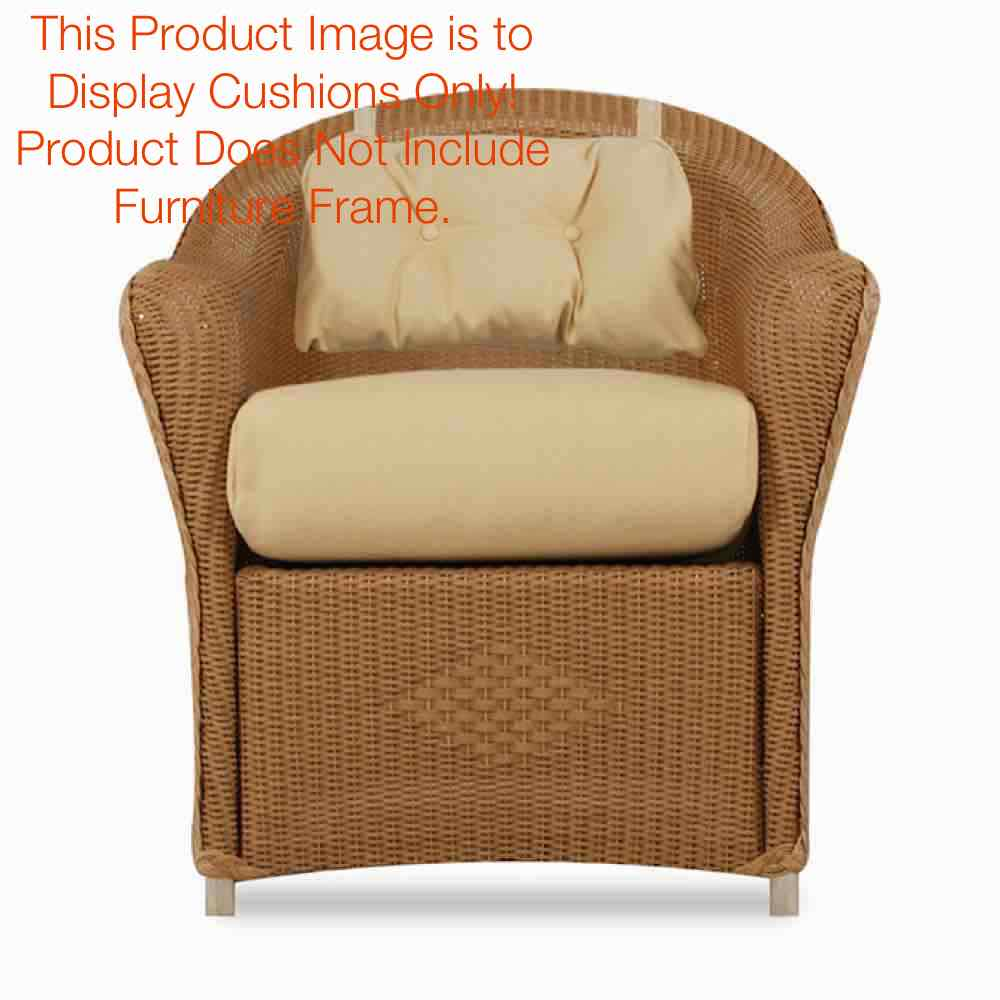 Lloyd Flanders Reflections Outdoor Wicker Dining Arm Chair Cushion Set