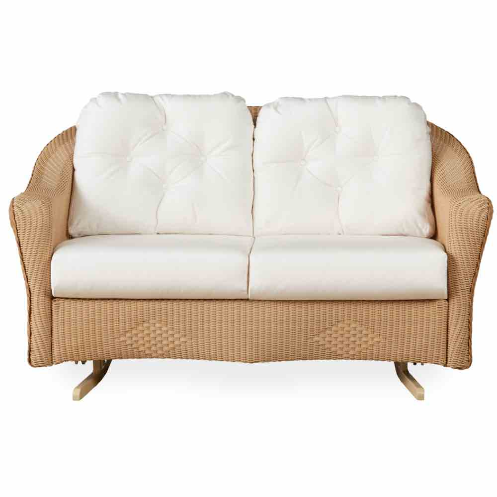 Lloyd Flanders Reflections Outdoor Wicker Loveseat Glider