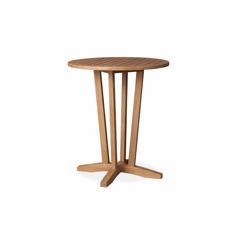 Lloyd Flanders Teak 30 Inch Round Bar Table