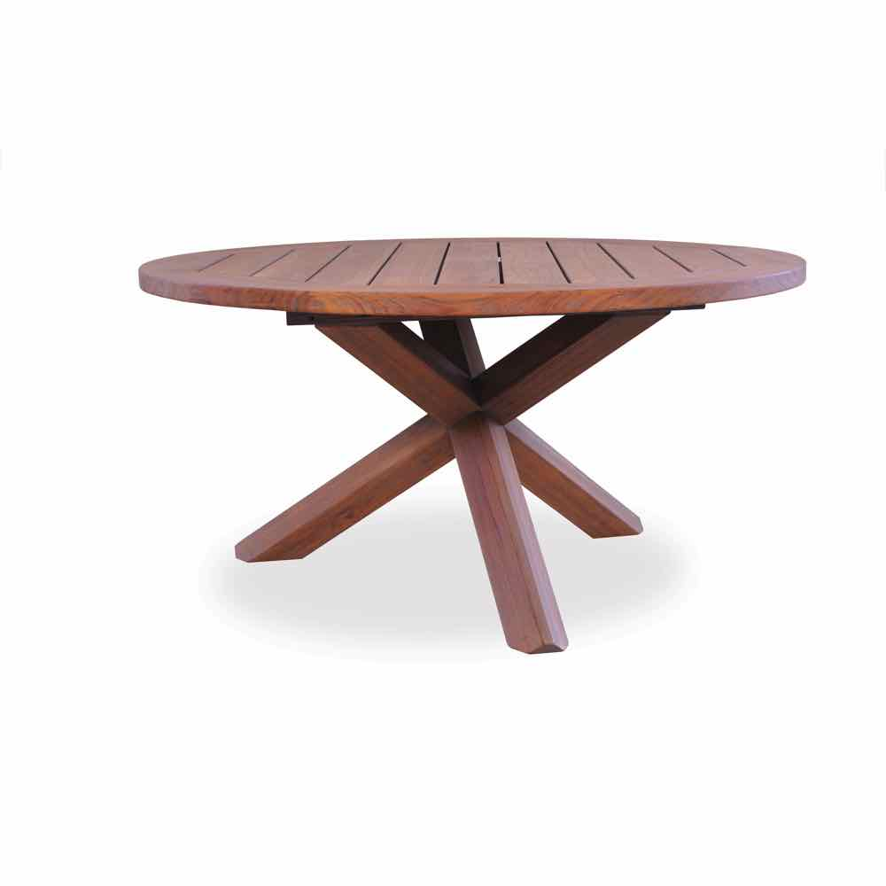 Lloyd Flanders Teak 48 inch Round Chat Table