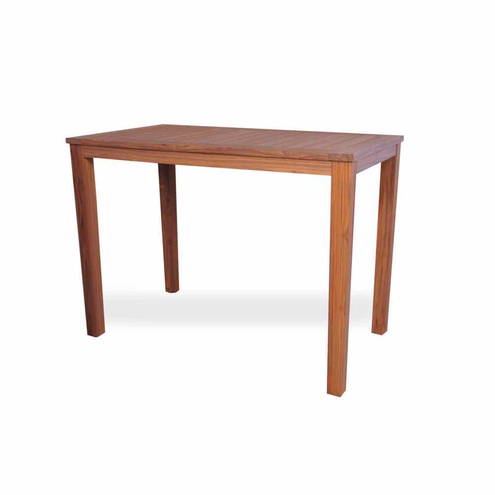 Lloyd Flanders Teak 57 Inch Rectangular Bar Table