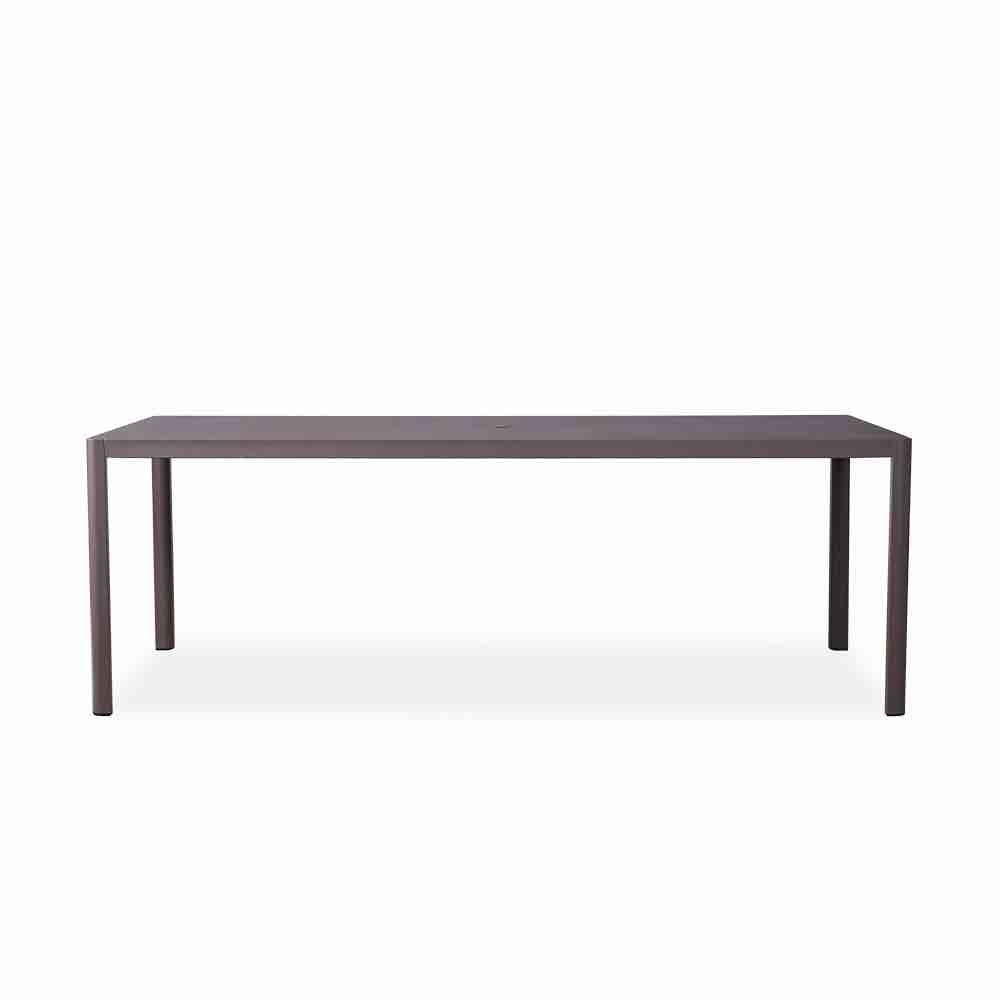Lloyd Flanders Verona 86.5 Rectangular Umbrella Dining Table