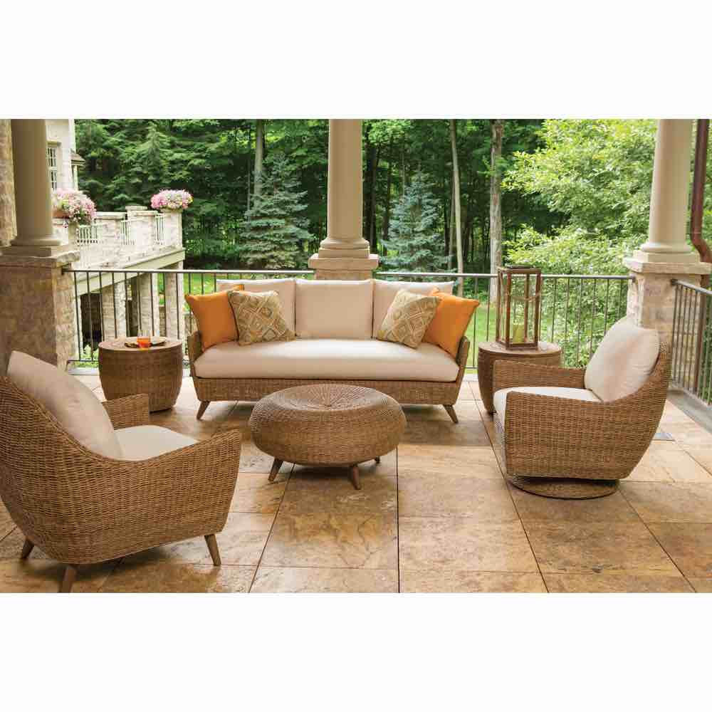Lloyd Flanders Tobago Outdoor Wicker Sofa