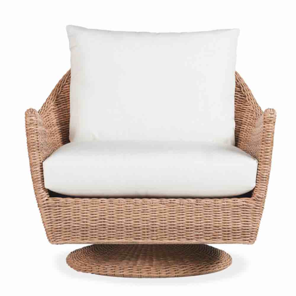 Lloyd Flanders Tobago Outdoor Wicker Swivel Rocker Lounge Chair