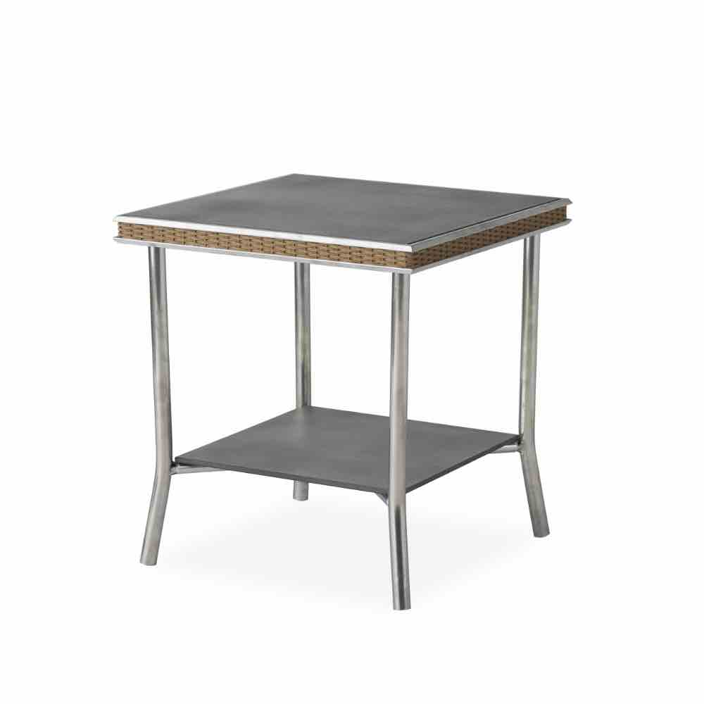Lloyd Flanders Visions Square Outdoor Wicker End Table