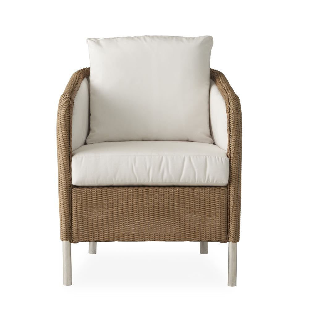 Lloyd Loom Visions Outdoor Wicker Dining Chair Front View