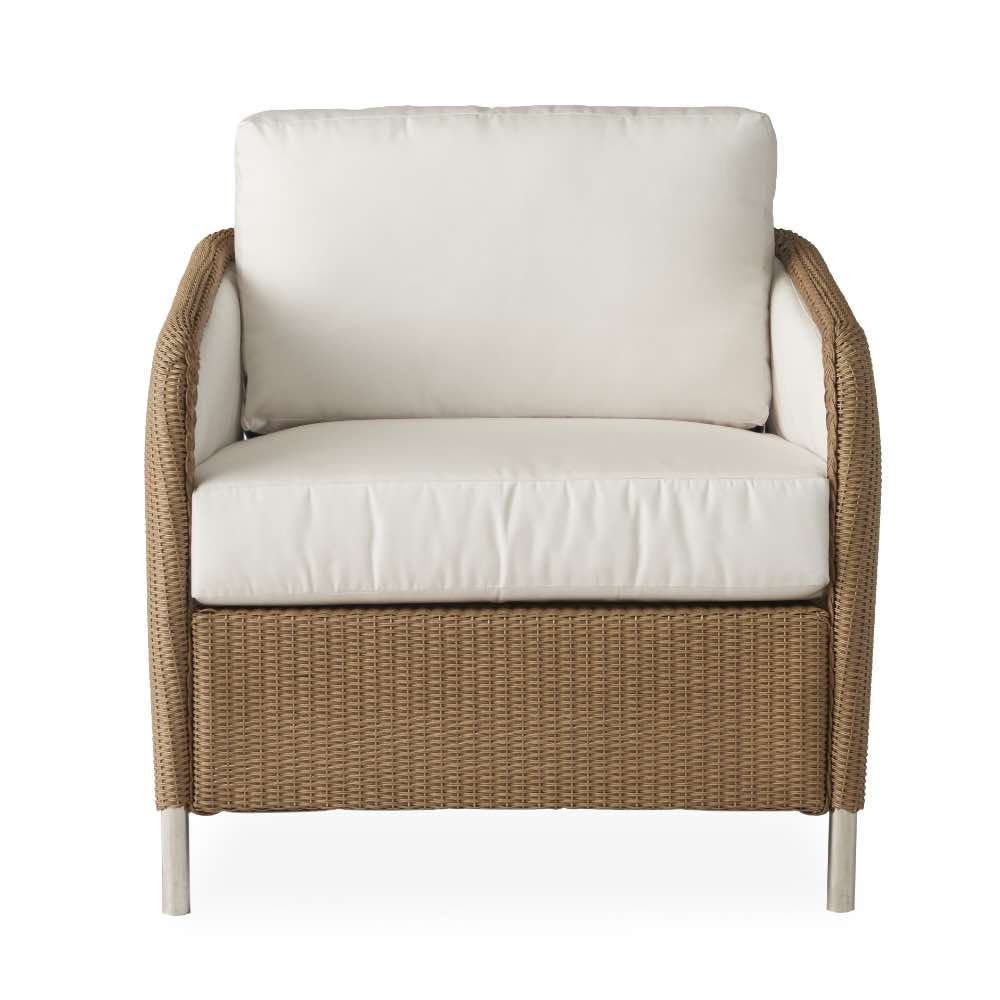 Lloyd Loom Visions Outdoor Wicker Lounge Chair Front View