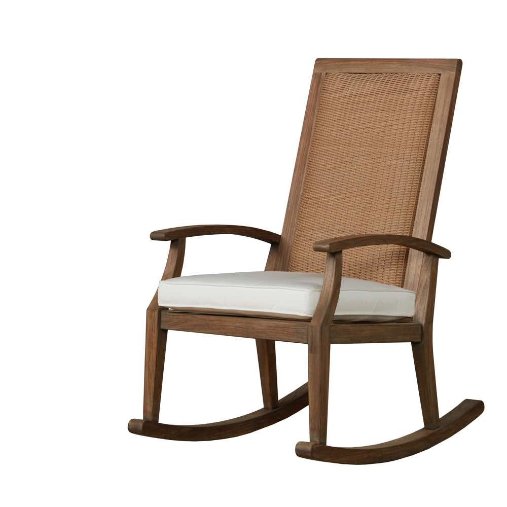 Porch Rocker Teak Patio Rocker Lloyd Flanders