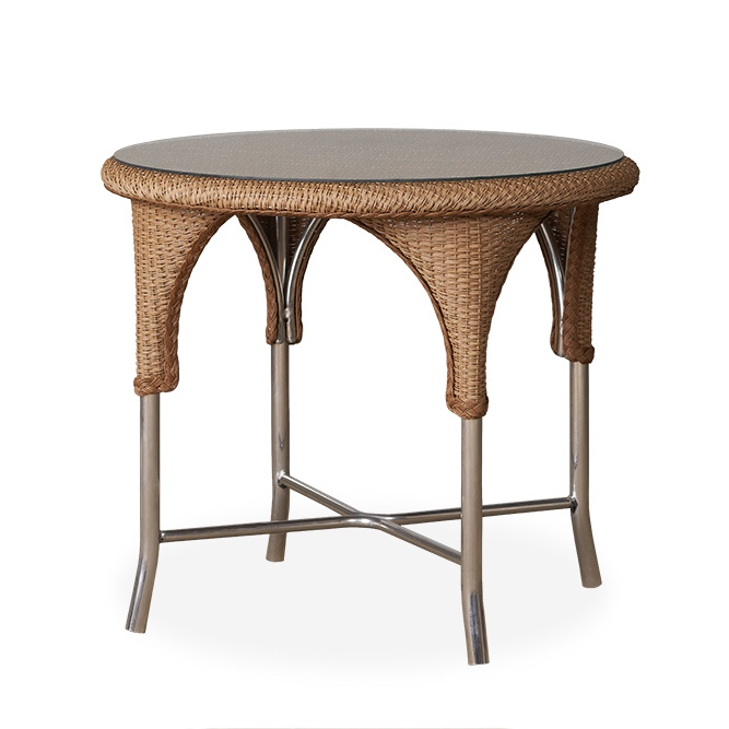 Lloyd Loom Universal 34in. Round Wicker Dining Table
