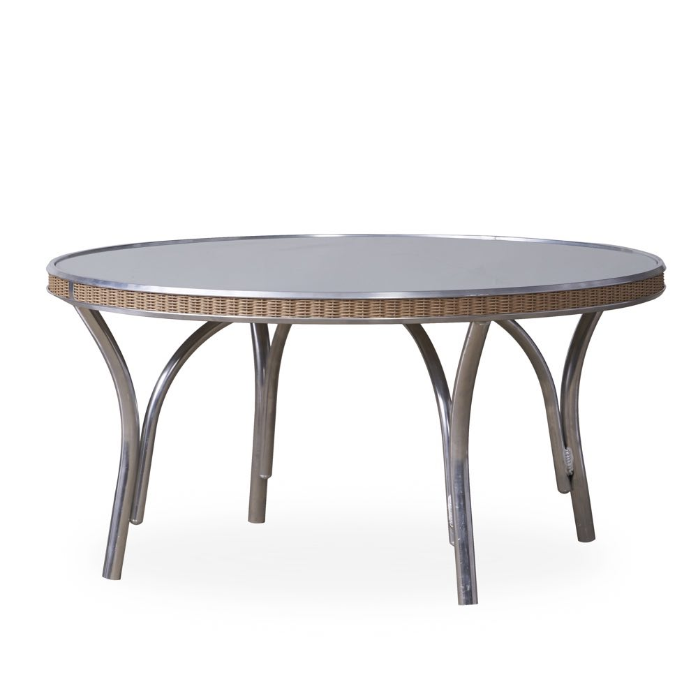 Lloyd Flanders Round Cocktail Table