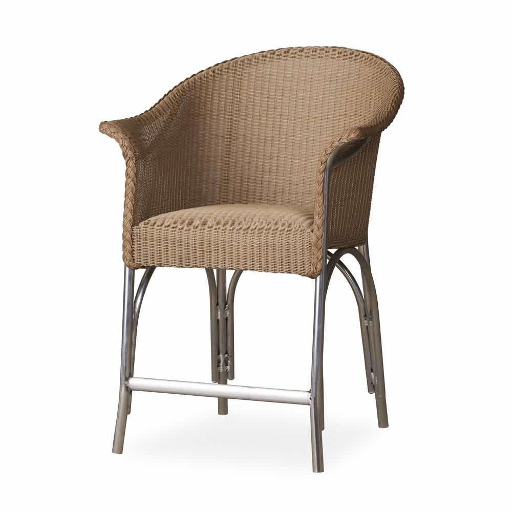 Lloyd Flanders Balcony Stool With Padded Seat