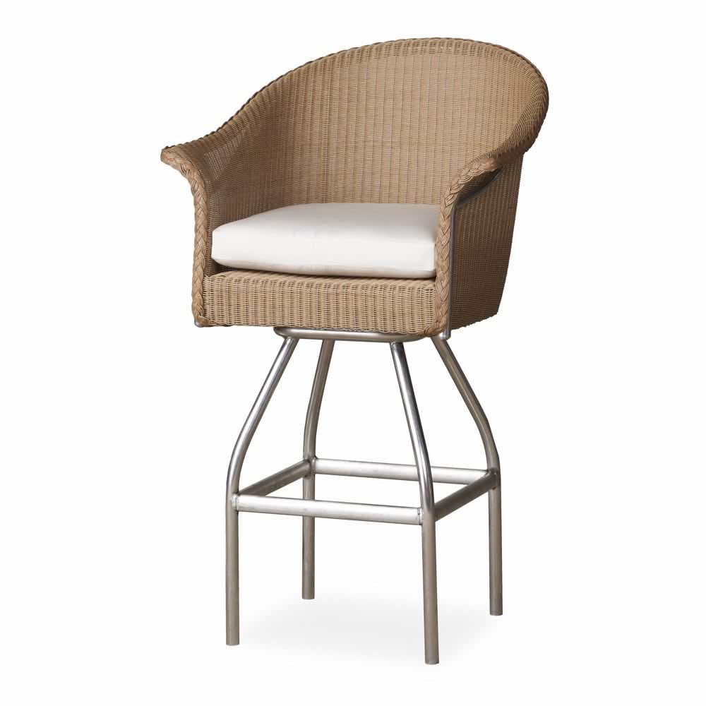 Lloyd Flanders Swivel Bar Stool With Cushion