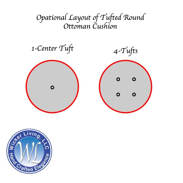 Layout of Round Tufted Ottoman Cushion