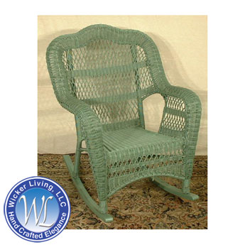 Open Weave Wicker Rocker