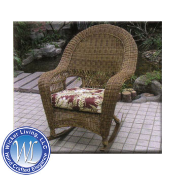 Charleston Outdoor Wicker Rocking Chair