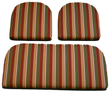 Solid Foam Seat Cushions For Your Deep Wicker Set