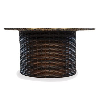 "Lloyd Flanders Contempo Wicker 48"" Round Fire Table"