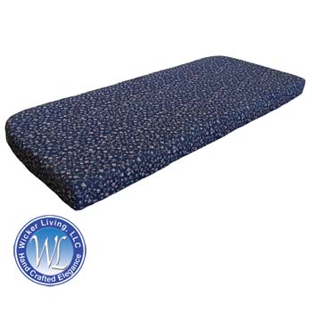 Foam Love Seat Cushion Shown With Optional Single and Double Piping