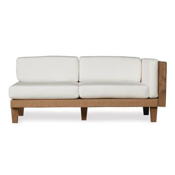 Lloyd Flanders Left Arm Wicker Settee