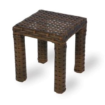 "Lloyd Flanders Contempo 16"" Square End Table/Stool"