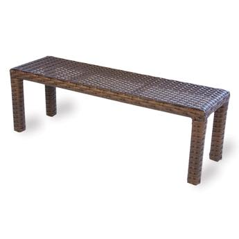 "Lloyd Loom Contempo 60"" Outdoor Wicker Dining Bench"