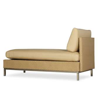 Lloyd Flanders Elements Armless Wicker Chaise Lounge