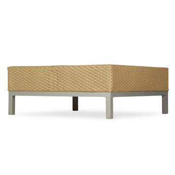 Lloyd Flanders Elements Wicker & Stainless Steel End Table