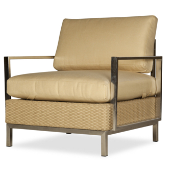 Elements Lounge Chair With Stainless Steel Arms