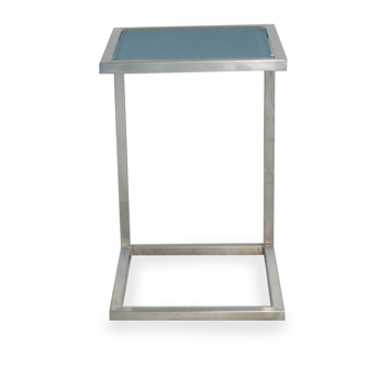 Lloyd Flanders Elements Stainless Steel Frame End Table