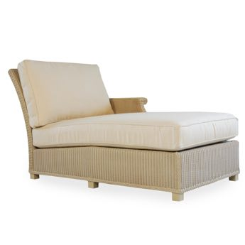 Lloyd Flanders Hamptons Left Arm Chaise Lounge Chair