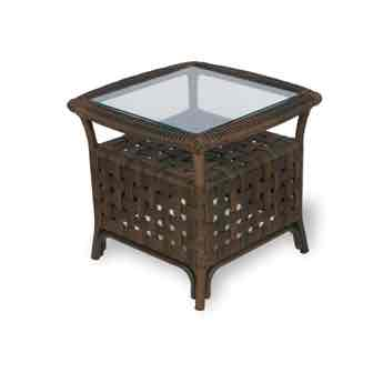 "Lloyd Flanders Haven 24"" Square Wicker End Table"