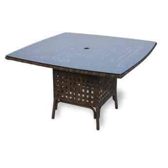 """Lloyd Flanders Haven 47"""" Square Wicker Dining Table"""
