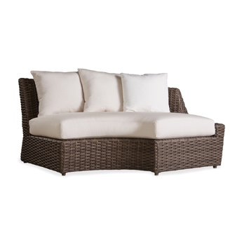 Lloyd Flanders Outdoor Wicker Left Arm Curved Sofa Sectional