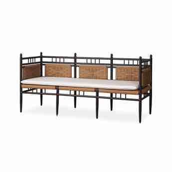 Lloyd Flanders Low Country Outdoor 3-Seat Wicker Bench