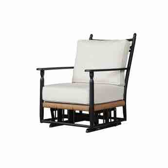 Lloyd Flanders Low Country Wicker Glider Lounge Chair