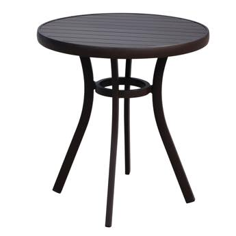 Lloyd Flanders Lux Aluminum Bistro Table With Anthracite Finish