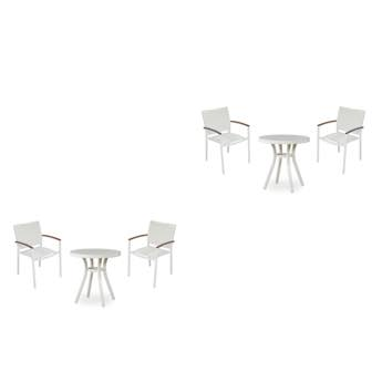 Lloyd Flanders Lux Sling Dining Chair & Round Bistro Table