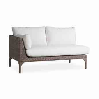 Lloyd Flanders Martinique Outdoor Wicker Right Arm Loveseat Sectional