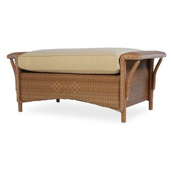 Lloyd Flanders Nantucket Large Wicker Ottoman