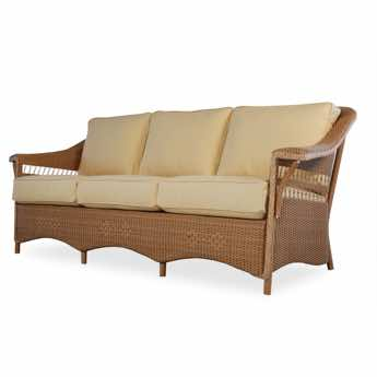 Lloyd Flanders Nantucket 3 Seat Wicker Sofa