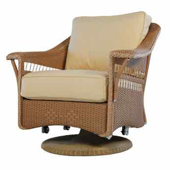 Lloyd Flanders Nantucket Wicker Swivel Glider Lounge Chair