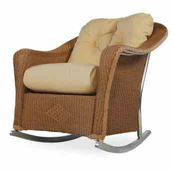 Lloyd Flanders Wicker Lounge Rocker