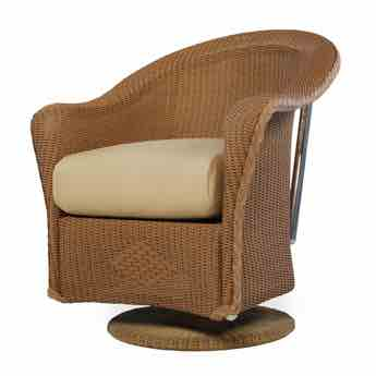 Lloyd Flanders Reflections Outdoor Swivel Rocker Dining Chair